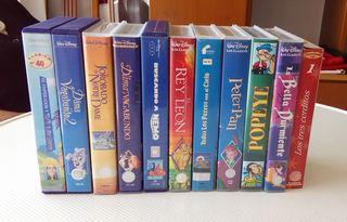 Lote 11 cintas VHS Disney y otros.