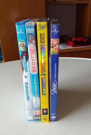 Lote 4 DVD Disney y otros.
