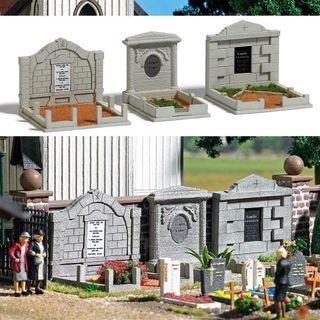 Modelismo maqueta H0 Busch 1092 cementerio