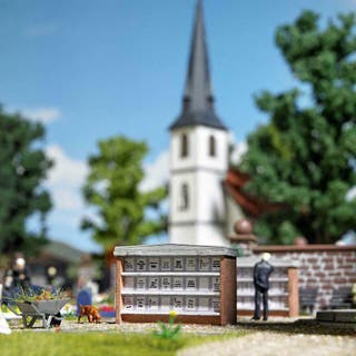 Modelismo maqueta H0 Busch 1093 cementerio lápidas