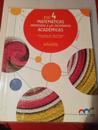 matemáticas 4 ESO Anaya