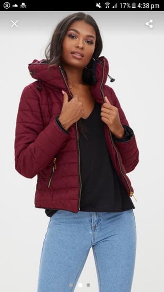 Burgandy Puffer Jacket