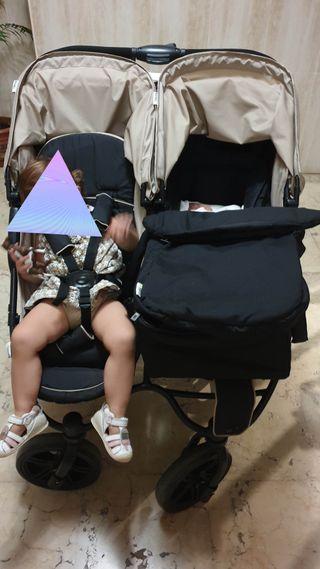 carrito bebe gemelar