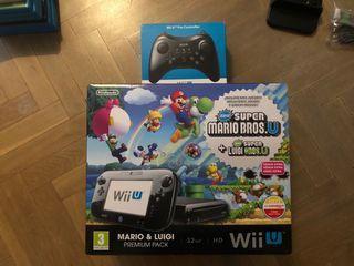 Wii U + mando pro + 7 juegos