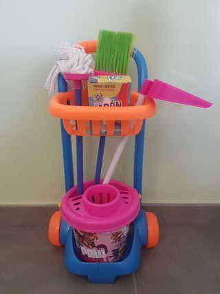 Carrito limpieza juguete de la Patrulla canina