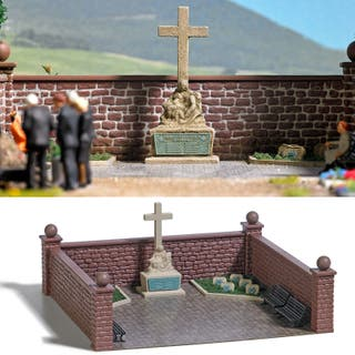 Modelismo maqueta H0 Busch 1094 cementerio cruz