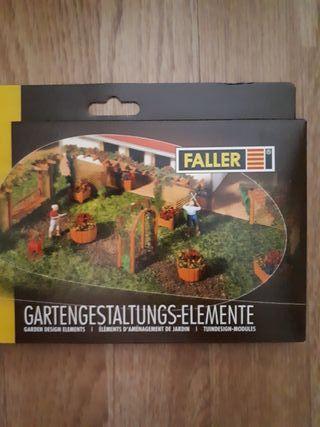 Maqueta escala H0 Faller 180554 jardín