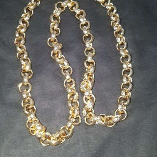 DIAMOND CUT GOLD VELCHER CHAIN *CHEAP!!
