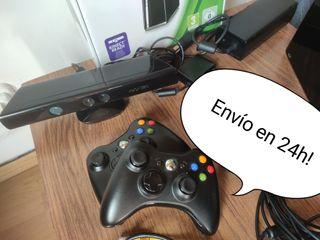 ++ Xbox 360 250GB +2Mandos + 30Juegos + Kinect ++
