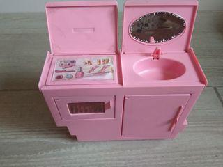 tocador cocina de Barbie años 80 Superstar Vintage