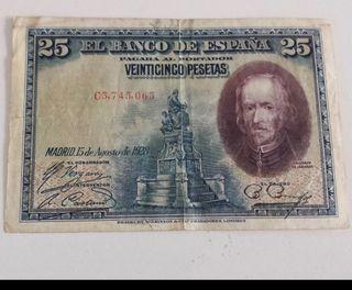 Billete antiguo agosto de 1928