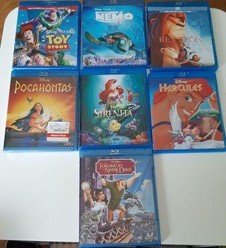 Pack 7 peliculas DISNEY blu-ray