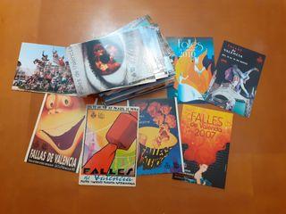 Lote 100 postales Fallas de Valencia