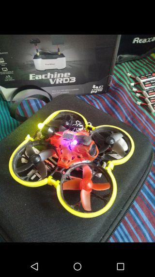 Pack Dron con Gafas, emisora y baterias