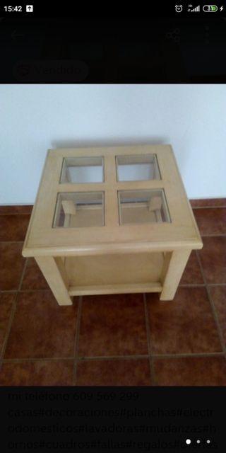 mesa de 60x60 de pino maciza