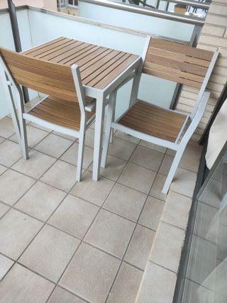 NUEVAS! Sillas de Jardín en aluminio y madera Ikea