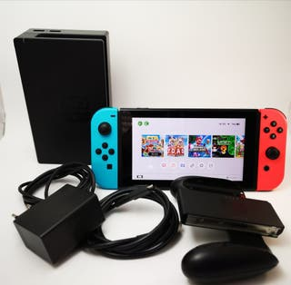 NINTENDO SWITCH + 12 JUEGOS + SD 128gb + ACCesorio