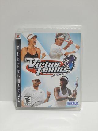 Virtua Tennis 3. para PS3. En inglés.