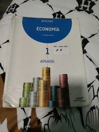libro evonomia 1 bachillerato Anaya