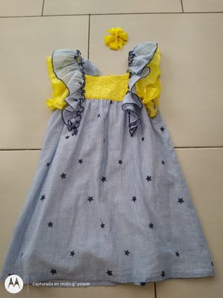 kids chocolate vestido talla5 impecable