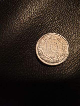 Moneda 10 céntimos del año 1959