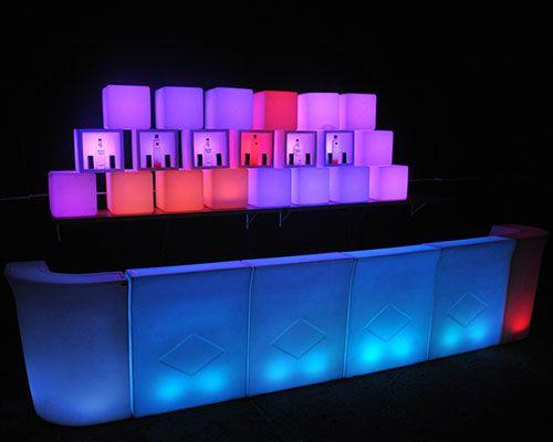 Barras de bar led