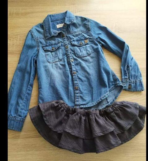 preciosa falda bombacho marca vainica más camisa
