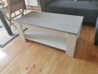 mesa Elevable blanca y gris nueva