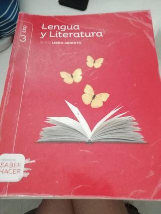 Libro de lengua y literatura de 3° de la Eso