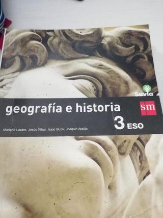 Libro de geografía e historia de 3° de la Eso