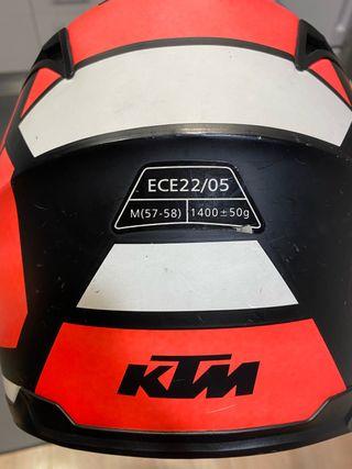 CASCO MOTO KTM NARANJA talla M