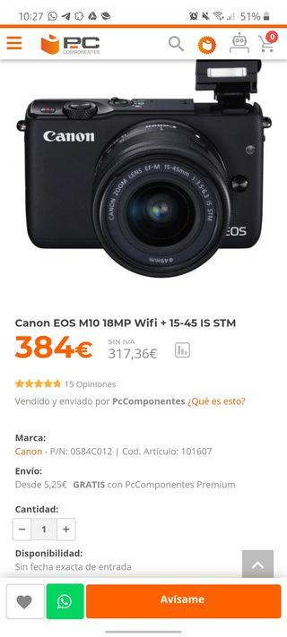 CANON EOS M10 (384€)