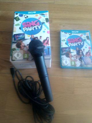 Juego Wii U SING PARTY con Microfono