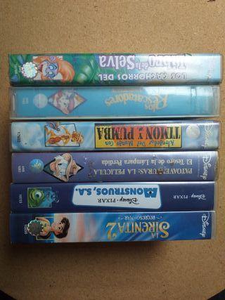 6 Películas Disney-Pixar VHS