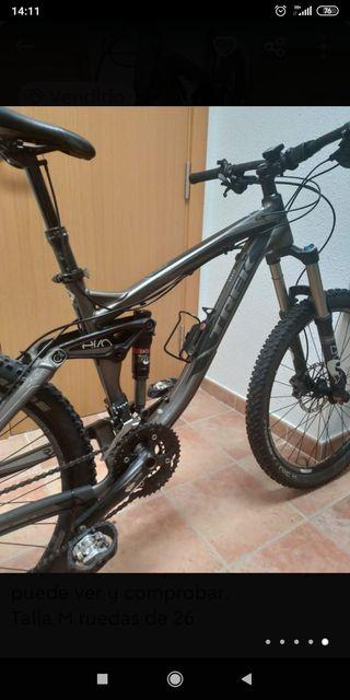 bicicleta enduro doble suspensión