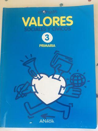 Libro Valores 3° Primaria Anaya