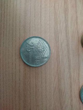 Moneda 25 pesetas año 1980