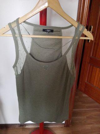 Tex Camiseta nadadora con encajes