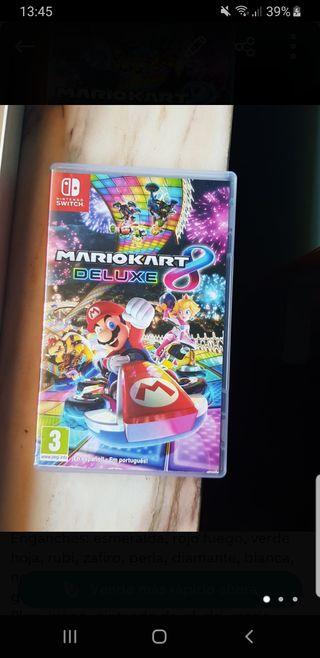 mando nintendo switch+ juego mario kart 8 deluxe