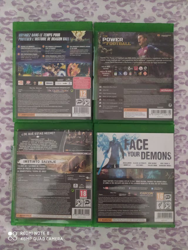 Pack de 4 videojuegos de Xbox one