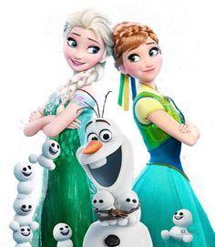 4 postales de Frozen