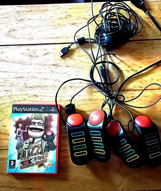 Buzz, el gran concurso musical, con 4 mandos.