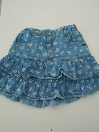 falda niña brotes T.6