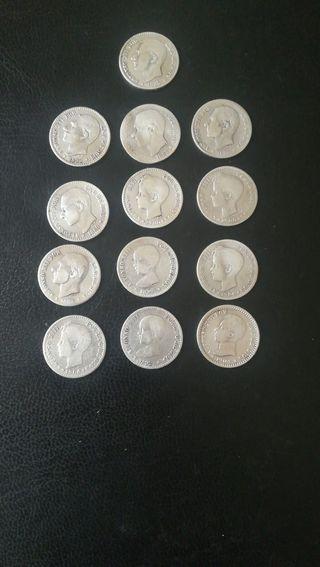 13 monedas Arras de plata