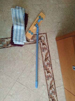 Mopa para el suelo y 5 recambios de microfibra