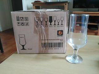 12 Beer Glasses 36,5 cl