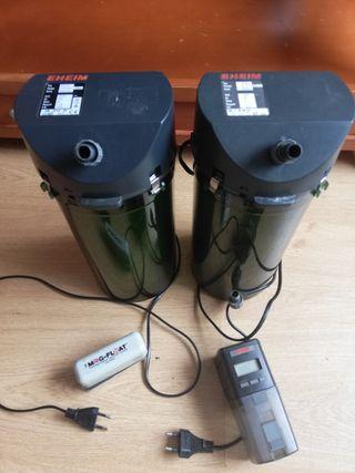 filtros acuario 2213, comedero y imanes