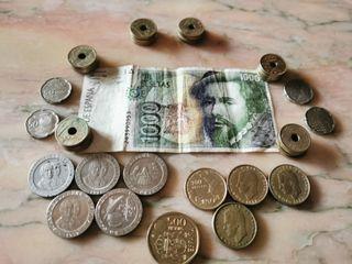 3700 pesetas moneda y billete