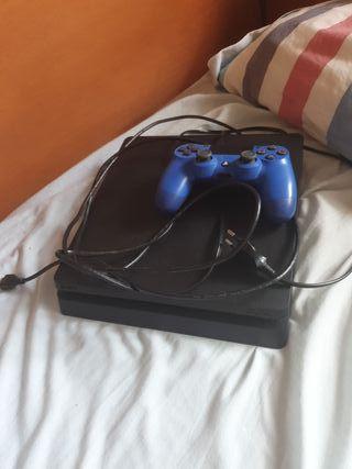 Ps4 Slim + Mando Azul
