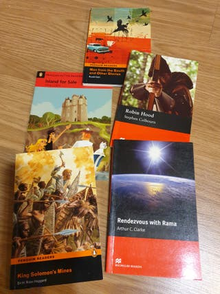 5 libros juveniles escolares en inglés